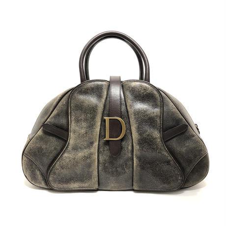 Christian Dior クリスチャン ディオール ダブルサドル ヴィンテージ加工 ボストンバッグ vintage ヴィンテージ オールド