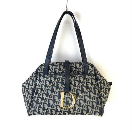 Christian Dior クリスチャン ディオール トロッター ハンドバッグ トートバッグ ネイビー vintage ヴィンテージ オールド