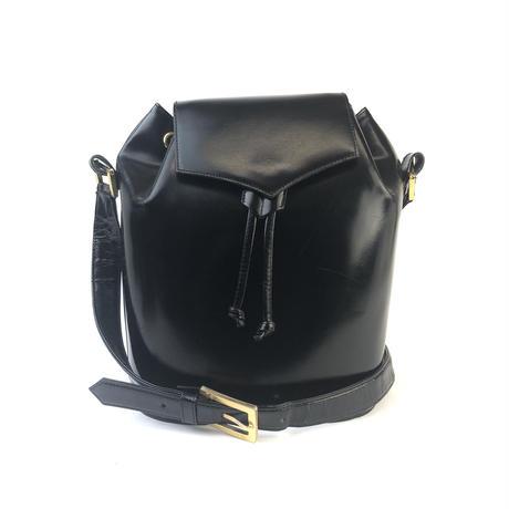 Yves Saint Laurent イヴ サンローラン 巾着 ショルダーバッグ ブラック vintage ヴィンテージ オールド YSL