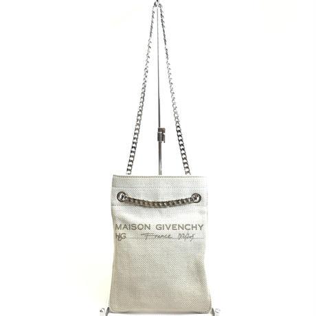 GIVENCHY ジバンシィ 2way チェーンショルダー ミニ キャンバスバッグ