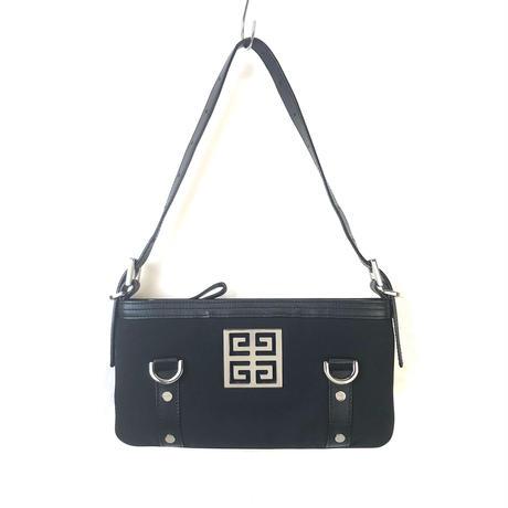 GIVENCHY ジバンシィ ロゴ ハンドバッグ ブラック vintage ヴィンテージ オールド