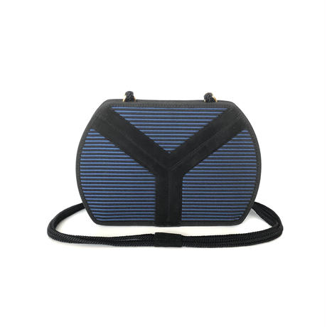 Yves Saint Laurent イヴ サンローラン YSL Yデザイン ストライプ ショルダーバッグ ネイビー vintage ヴィンテージ オールド