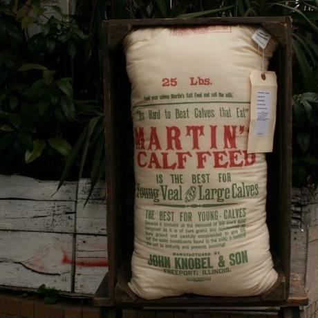 Vintage Feedsack Pillow