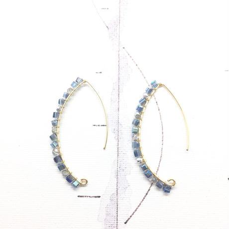 Light blue hook earrings