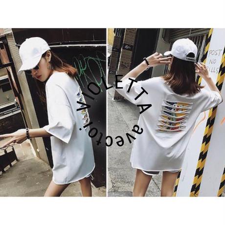 ユニセックス☆セサミストリート☆Tシャツ☆WHITE