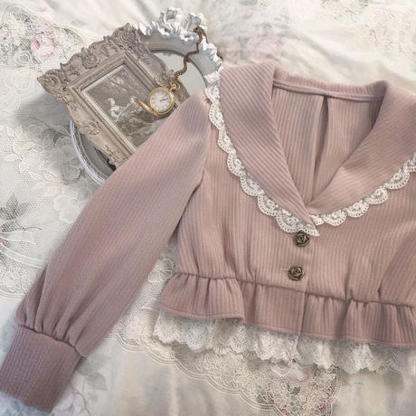 Belle - Cardigan with lace