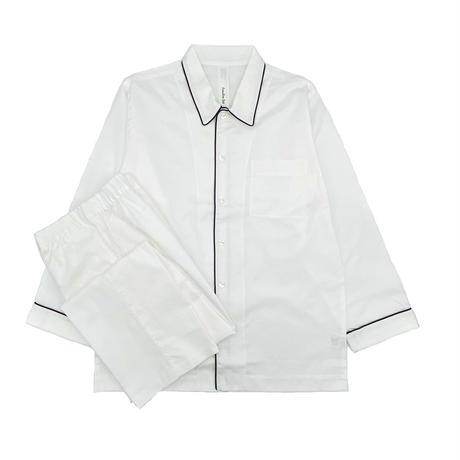 オックス シャツカラーパジャマ【White】
