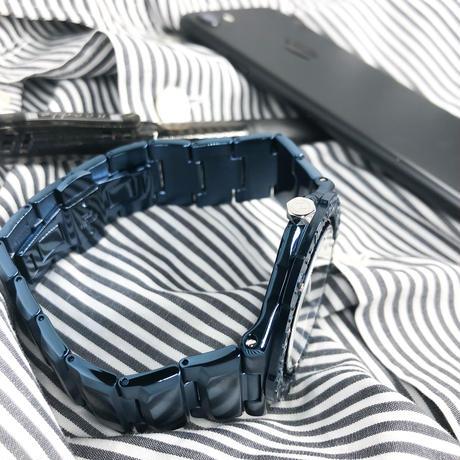 009-02  Nove   トライデント   Blue 200m防水 超薄型ダイバーズウォッチ