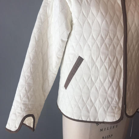 quilting jacket(ivory.black)