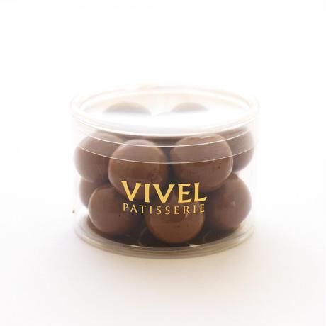 〈チョコレートアソート3個入り〉 アーモンドダーク【パール】・ホワイト【クランチ】・キャラメル【パール】