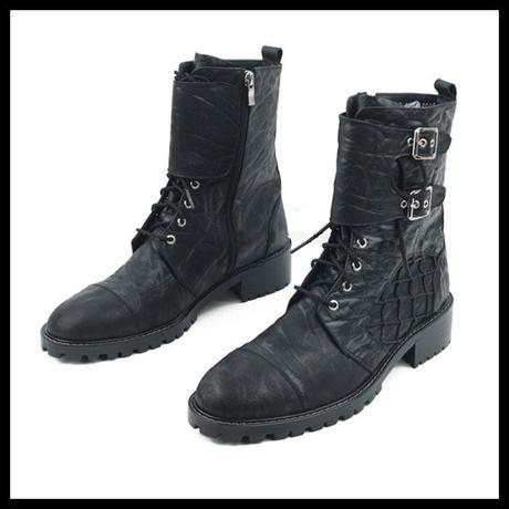 ハンドメイドヴィンテージブーツ★mshj0065 ハンドメイド メンズ 靴 ショートブーツ メンズ エンジニアブーツ メンズ ブーツ 黒 メンズ ファッション ブーツ