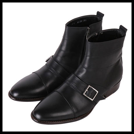 ハンドメイドショートブーツ ★mshj0070 ハンドメイド メンズ ブーツ 黒 ウエスタンブーツ 牛革 メンズ ファッション ブーツ 紳士靴 ブラック ショートブーツ
