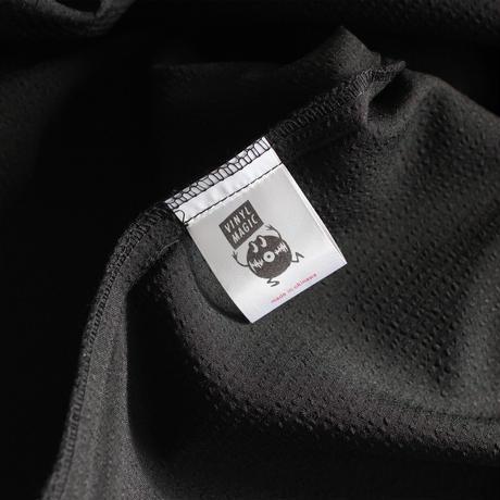 XOSYSTEM|XO x STASH L/S OPEN SHIRT / SEERSUCKER BLACK