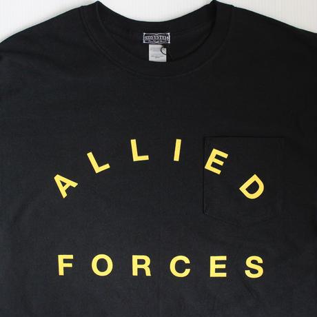 XOSYSTEM XO × BF ALLIED FORCES L/S TEE  BLACK