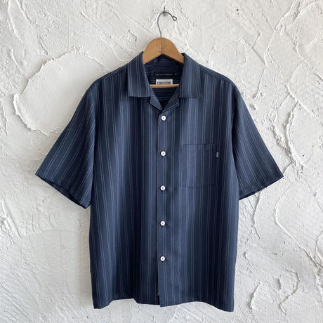 LINX|LINX x STASH S/S OPEN SHIRT / NAVY