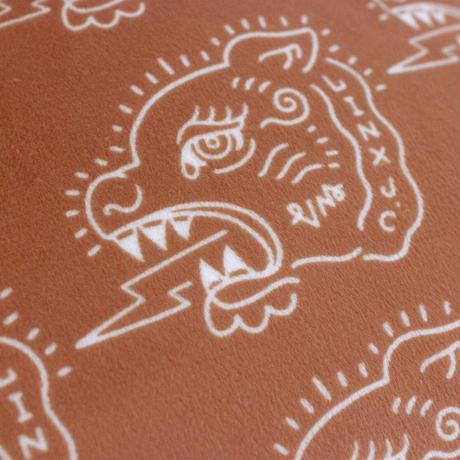 VINYLMAGIC VM 25th CUSHION COVER / SHISER(MAT ORANGE)