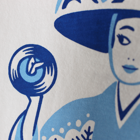 LINX|LINX × Kads MIIDA-HANAGASA TEE / WHITE-BLUE