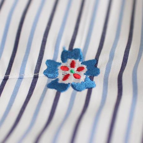 ST-194|STARTEX|KARIYUSHI WEAR|OLD FLOWER-SLIM-/ BLUE STRIPE