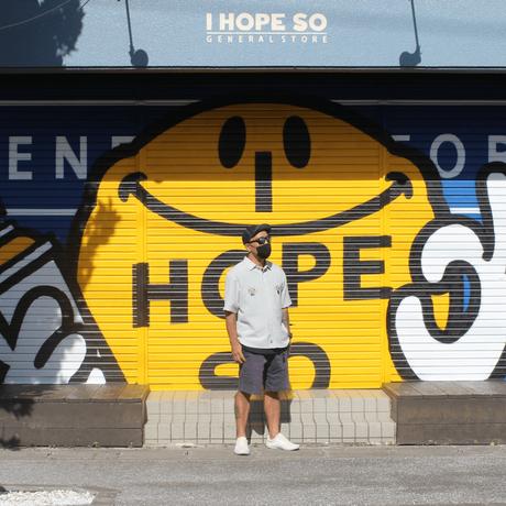 XOSYSTEM|I HOPE XO S/S SHIRT |OLIVE