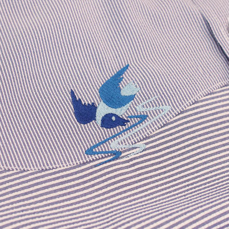 ST-246|STARTEX|KARIYUSHI WEAR|DELUXE TGW WAVE PANEL -SLIM- / BLUE PIN STRIPE