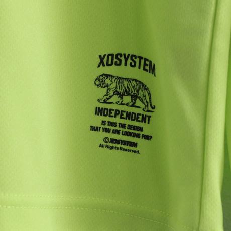 XOSYSTEM|XO ARCH LOGO DRY L/S TEE |LIGHT GREEN