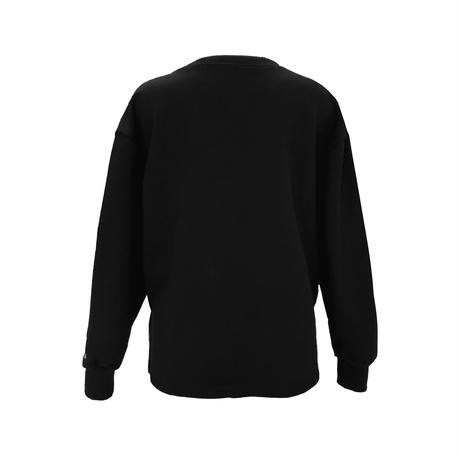 FIN: SURF BUM EMBROIDERY BLACK SWEATSHIRT