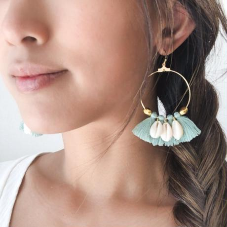 ISLAND TIME: HULA EARRINGS TURQUOISE
