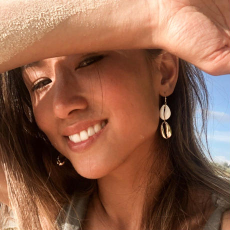 ISLAND TIME: SEASHELL EARRINGS - DOUBLE
