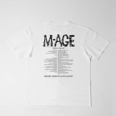 「M-AGE 1991→2021REUNION」TEE  WHITE