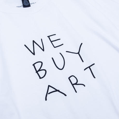 Masanao Hirayama - 'WE BUY ART' T-shirts / White