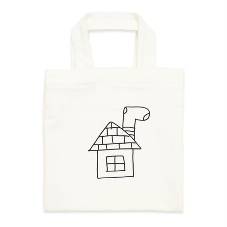 Ken Kagami - くっつけてみよう SQUARE DENIM BAG / White
