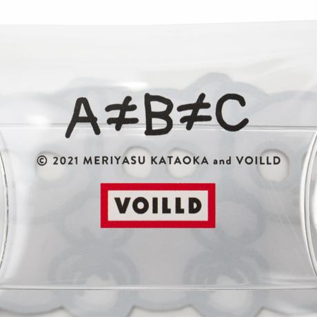 片岡メリヤス -「A≠B≠C」CLEAR POUCH
