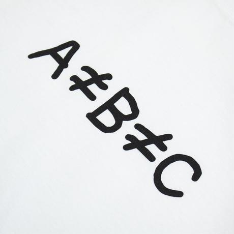 片岡メリヤス -「A≠B≠C」Tee / White