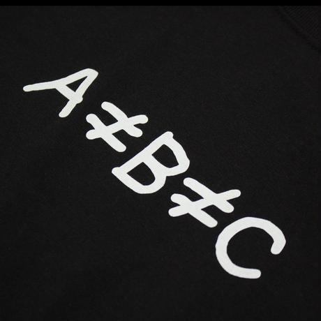 片岡メリヤス -「A≠B≠C」Tee / Black