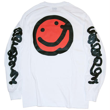 Yudai Nishi 'Smile' Long Sleeve Tee - White