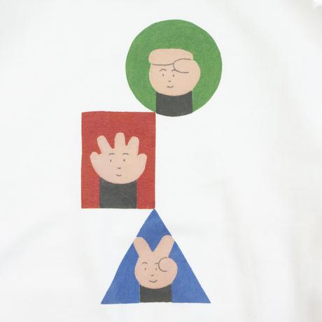 """SHINICHI NAKAYAMA - """"Rock Paper Scissors"""" White Sweat"""