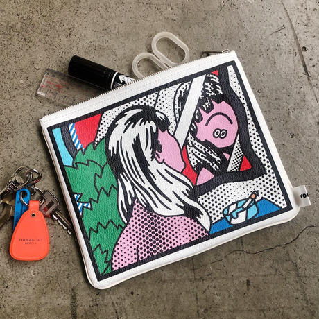 """FACE - """"Hey! face"""" PVC Lether Pouch"""