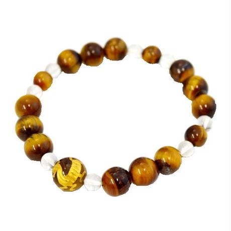 タイガーアイ 数珠ブレス D 天然石ブレス パワーストーン10007101