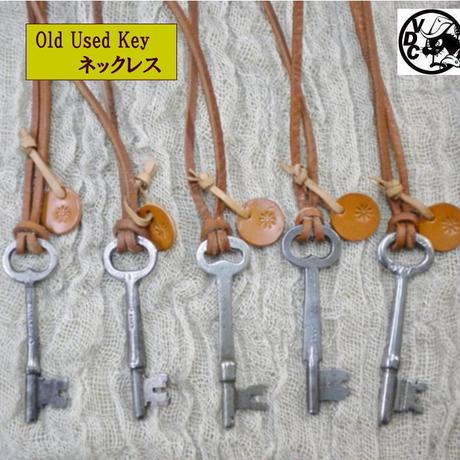 VINTAGE KEY オールドキー 鍵 牛革チョーカー ネックレス レザーチョーカー ブラウン 20171104