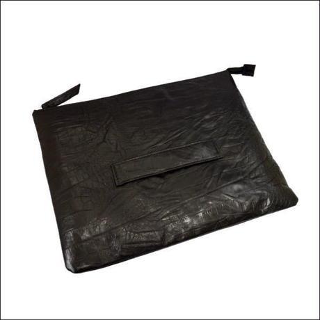 持ち手付き クラッチバッグ 本革 クロコダイル革型押し メンズ レディース 日本製 ブラック 10007871