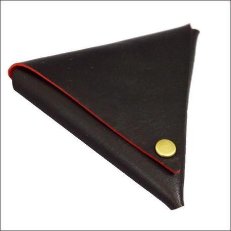コインケース メンズ レディース 本革  牛革 デルタレザーコインケース 日本製 ブラック×レッド  10007789