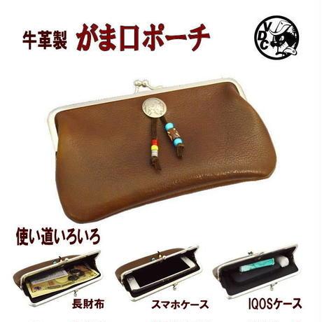 5セントコンチョ レザー iQOS ケース アイコスポーチ がま口 レザー アイコスケース 革 本革 日本製 10007899