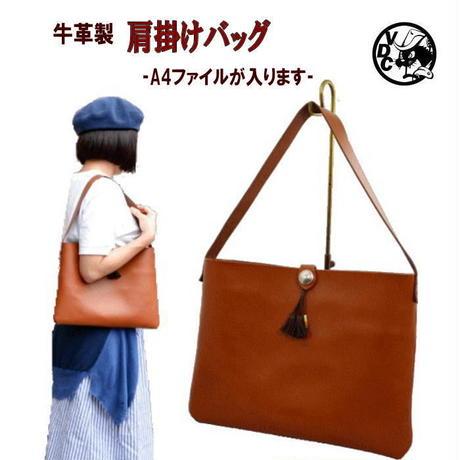 革 牛革 本革 ショルダーバッグ キャメルブラウン メンズ レディース 本革バッグ A4ファイル対応 10007903