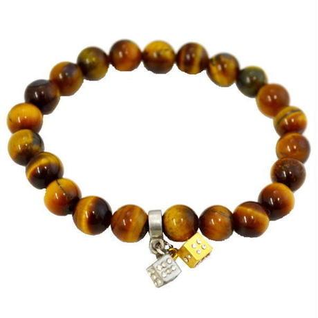 タイガーアイ 数珠ブレス 天然石ブレス パワーストーン ダイス 10007099