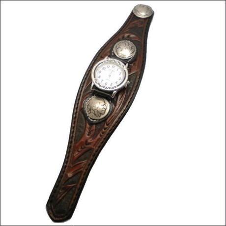 レザー(牛革)シェリダンクラフト腕時計 (リストウォッチ)ブラウン 10003749
