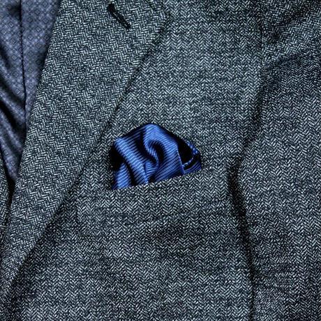 VUMPS メランジジャカード ジャージジャケット ブルー