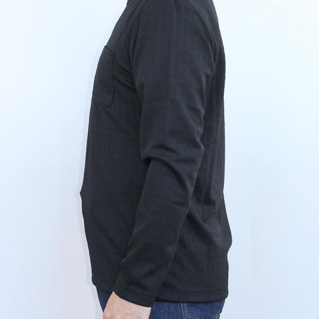 VUMPS ブリスタージャガード 長袖Tシャツ ブラック