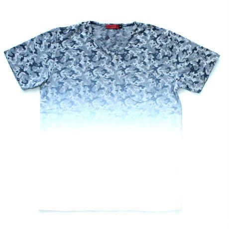 VUMPS RED ジャカードグラデーションTシャツ