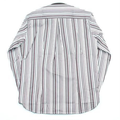 VUMPS マルチストライプドレスシャツ レッド
