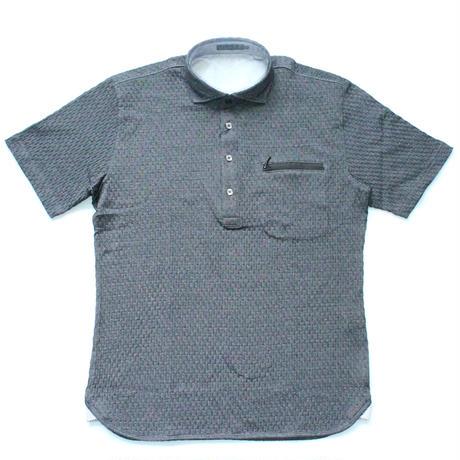 VUMPS ニットサッカーストレッチ半袖ポロシャツ